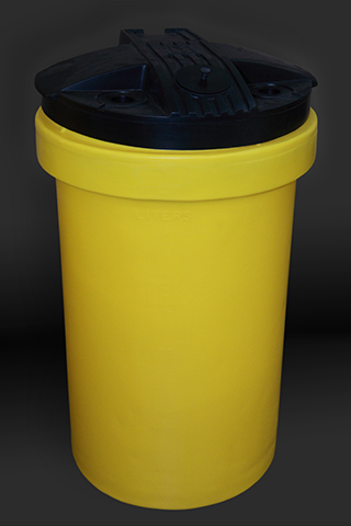 Yellow 50 Gallon Polyethelyne Tank with Cover