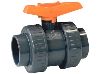 3/8 - 375 Ball Valve Socket/Threaded NPT PVC/FPM