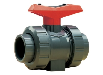 3/8 - 546 Ball Valve Socket/Threaded NPT PVC/FPM