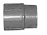 "1-1/2"" x 3/4"" Reducing Coupling (SxS) PVC Schedule 80"