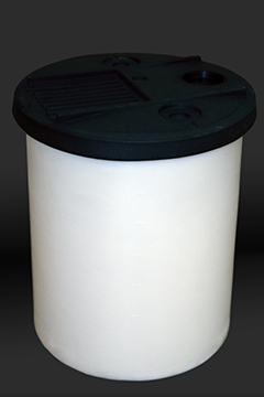 * 35 GAL PE TANK WHITE W/COVER